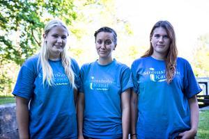 Jennifer Myckelberg, Therese Granlund och Sofia Björngren har jobbat som slussvakter i Fagersta under sommaren.