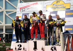 Esko Junttila och Mats Myrsell till höger. Vann gjorde italienaren Lucio da Sanche.