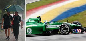 Marcus Ericsson snurrade tvingades bryta kvalet i Malaysia.
