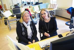 Monica Byström och Anna Häggblad har arbetat i huset i 24 år.