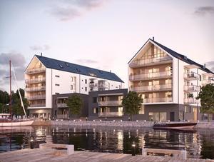 Alla lägenheter har balkonger, de som har utsikt mot sjön såldes först.