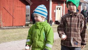 Erik och Gustav Granqvist från Ludvika hade hittat varsitt ägg