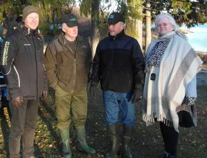 Naturmorgons fältreporter Joacim Lindwall, Johnny Westman från fiskeklubben Storfiskarna, Bo Öhman fiskekonsulent och Solveig Nordin Zamano, initiativtagare, amatörforskare om Artedi.