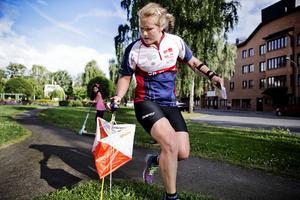 Lilian Forsgren har sprungit sprint i Örebro tidigare. Här vid ett landslagstest på Norr, på en karta som Martin Regborn ritat själv, inför VM 2015.