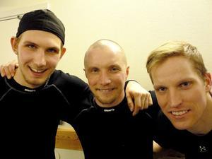 Trio som var på topp, från vänster: Simon Jansson, Anders Svensson och Daniel Liw.