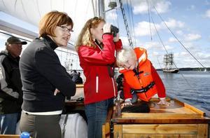 Eva Eriksson, Ulrika Wanner och Tilde Wanner hade förberett sig med egen matsäck.