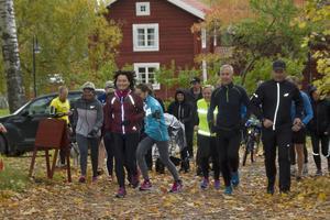 Starten för välgörenhetsloppet Run of Hope gick vid hembygdsgården.