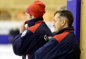 Peter Törnberg har ett långt förflutet i moderklubben Edsbyn. Både som spelare och, som här, tränare.