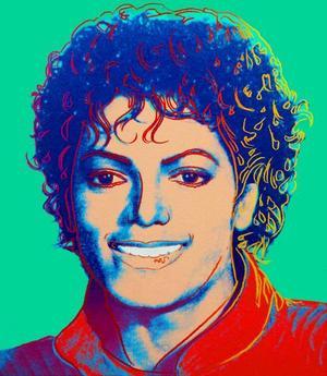Andy Warhols porträtt av Michael Jackson.
