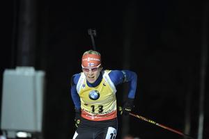 Kaisa Mäkäräinen motsvarade förväntningarna och tog en pallplats. Finskan var tvåa, 27 sekunder bakom Darya Domracheva.