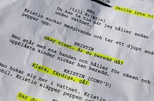 """manus. Castingen av """"Bitchkram"""" var ett av filmens mest tidskrävande moment – hela åtta månader tog det innan filmens tre huvudrollsinnehavare stod klara."""