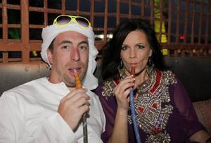 Per Andersson och Lena Philipsson i Dubai.