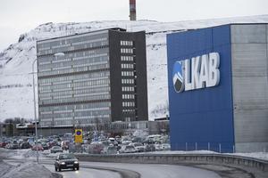 Gruvbolaget LKAB:s huvudkontor vid gruvan i Kiruna.