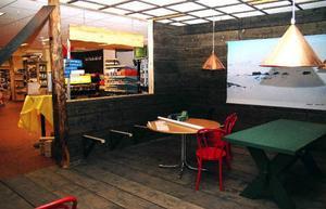 Restaurangen Blåhammarens fjällstation i Åres Icabutik har gått fort att bygga – men själva serveringstillståndet har dröjt. Eventuellt avgörs ärendet innan jul. Foto: Elisabet Rydell-Jansson