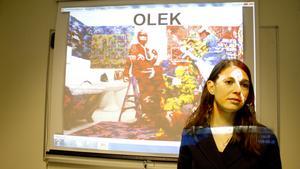 Konstvetaren Caroline Gustafsson presenterade årets program för Avesta Art.