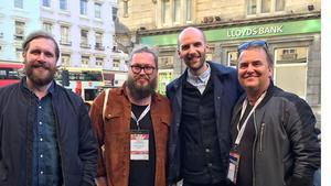 Daniel Olsson (Dalapop), Fredrik Johansson (BDPop), Kevin Moore (TGE) och Bosse Nikolausson (Talentcoach)