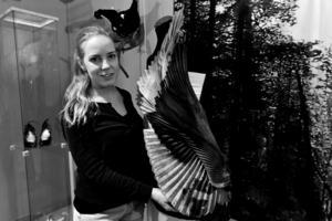 Anna Spånberg, 27 år, är en ung särnadesigner som hämtat inspirationen från hennes hembygd.