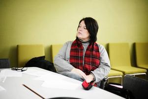 Carina Blank, S, kommunstyrelsens ordförande ser positivt på framtiden trots dystra tider.