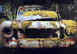 Även utan grill käner man igen en Volvo PV.