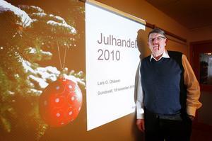 """Rekordår. Enligt Svensk handels prognoser inför julen 2010 kommer det att bli ett nytt rekordår–igen. """"I Sundsvall kommer det innebära en omsättning på cirka 900 miljoner för december månad"""", säger Lars G. Ohlsson, presschef för Svensk handel.Foto: Mats Olsson"""