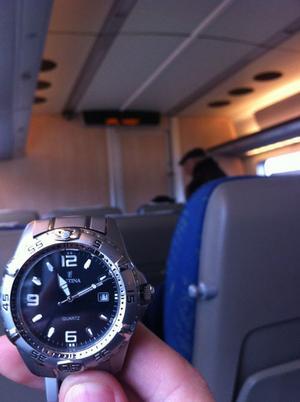 11.11.11 kl 11:11:11 sitter på upptåget mot Uppsala.