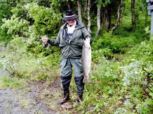 Öringen var 72 centimeter lång och vägde 5,6 kilo.