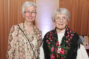 Med sina 91 år var Svea Larsson, ursprungligen från Lillhärdal, nu boende i Farsta, äldst på festen.