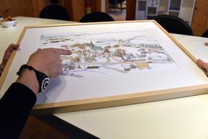 Utöver denna karta har Bullas Jonas Jansson också illustrerat tre stora figurer som kommer att tryckas upp och stå i Mora.