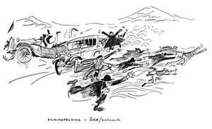 ÖP:s tecknare Karl-Iwar var förstås på plats när det internationella filmteamet intog Åre...
