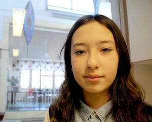 Farahnaz Akbari, 11 år, kan rabbla 200 decimaler på pi.