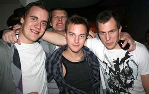 Elias, Kim, Joakim och Jocke.