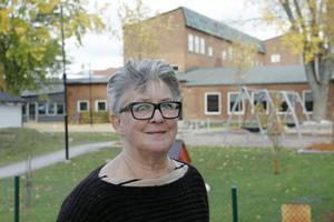 """Birgitta Persson hoppas att textilskolan ska få sin nystart i gamla Hammargymnasiet. """"Det är här kulturen finns"""", säger hon."""