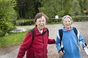 Carl och Karin Larssons barnbarn Daike Gruvnäs och Locki Skans har många gånger gått den gamla vägen.