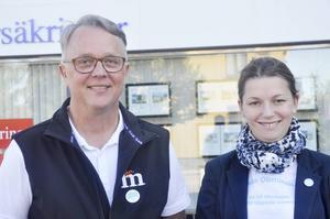 Lars-Göran Birkehorn Karlsen och Marta Obminska lanserade Moderaternas företagarråd i Tierp.