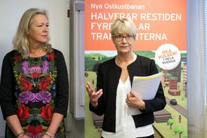 Eva Lindberg, Region Gävleborg, och Catharina Håkansson Boman, Sverigeförhandlingen.