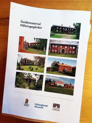 Länsstyrelsen Gävleborg, Hälsinglands museum och Hälsingegårdar står bakom det nya guidematerialet för hälsingegårdar.