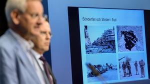 Dåvarande utrikesministern Carl Bildt (M) och finansministern Anders Borg varnade för konsekvenserna av omvärldsläget i augusti 2014