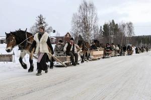 Tretton ekipage anlände till Lillhärdal på lördagseftermiddagen.
