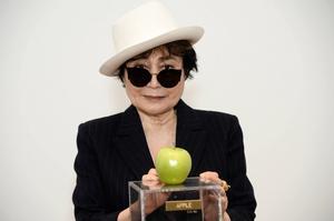 Yoko Ono vid invigningen av