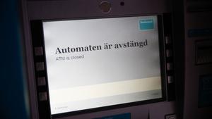Uttagsautomaten på Vasagatan i centrala Västerås stängdes av under söndagen.