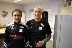 Sergej In-Fa-Lin och Magnus Brodén är nya tränare i Sandviken den här säsongen.