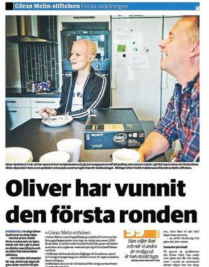 Skola i sorg. Oliver Byström gick i nian på Höglundaskolan och i går uppmärksammades hans bortgång. Flaggan vajade på halv stång, personal fanns till hands och de elever som ville kunde skriva en hälsning till Olivers familj.