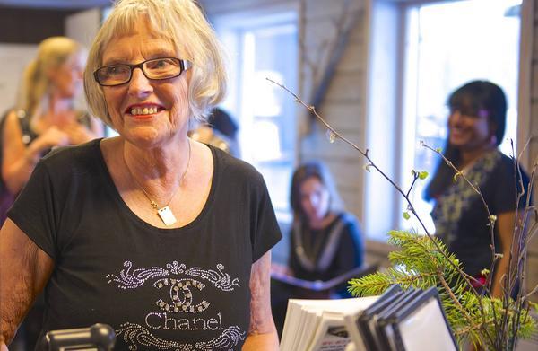 Svea Olofsdotter, en av körmedlemmarna.
