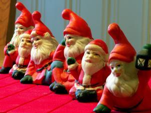 Veckans bild från julen bör väl(??) innehålla tomtar och här kommer en hel rad
