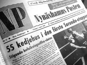 Hopp. Befolkningssiffran i Sorunda väntades stiga efter bygget i Sunnerby (NP 1 mars 1966).