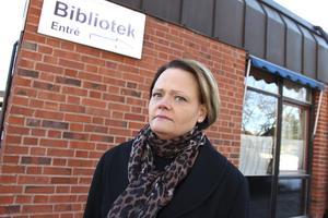 Marie Larsdotter fick utrymma biblioteket och likaså utrymdes kulturförvaltningens kansli, som också har lokaler i Folkets hus.