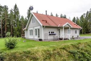 Denna villa i Sörbo, Aspeboda, Falu kommun, är fyra på Klicktoppen för Dalarna, under vecka 38.