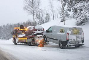 Olyckan i Rössånger, Enånger, där två bilar körde in i varandra.
