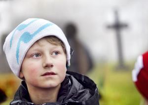 Emil Andersson hade egna minnen från en begravning av en nära anhörig.