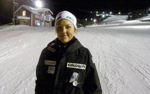 Sälens Louise Jansson, som missat många tävlingar på grund av sjukdom, var förstås mycket nöjd med andraplatsen i Gopshusbacken. Foto: Andreas Helmersson